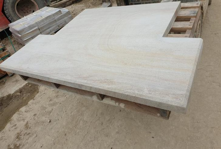 High Patterned Yorkshire Sandstone Hearth